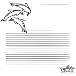 Kreativitet - Writing paper dolfin