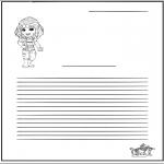Kreativitet - Writing paper girl