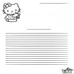Kreativitet - Writing paper Hello Kitty