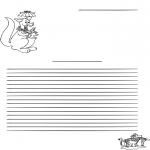 Kreativitet - Writing paper kangaroo