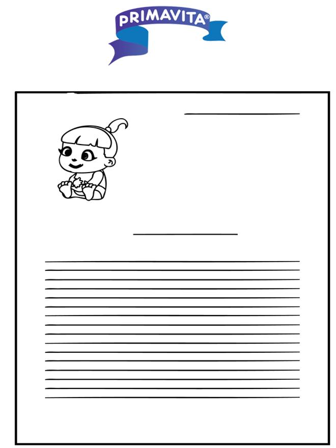 Writing paper Primavita baby - Kreativitet brevpapir